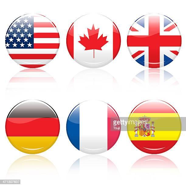World flag pins