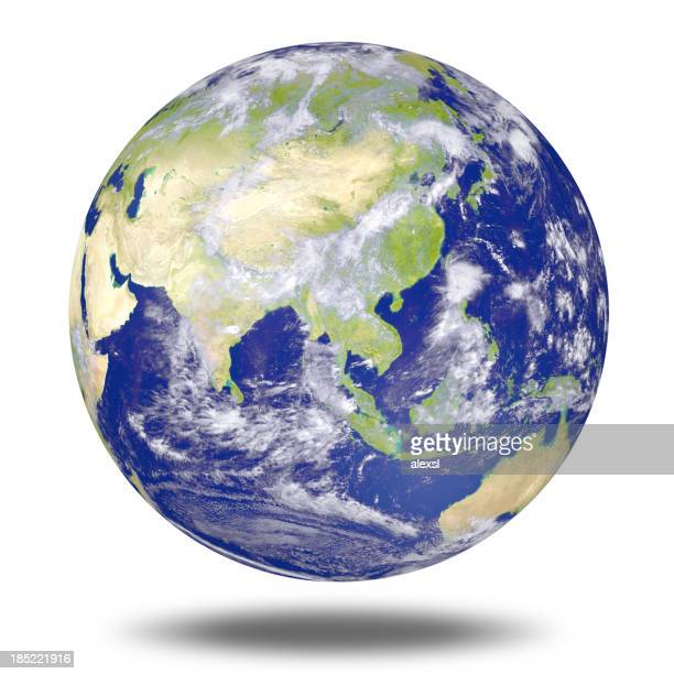 Mundo globo-Ásia
