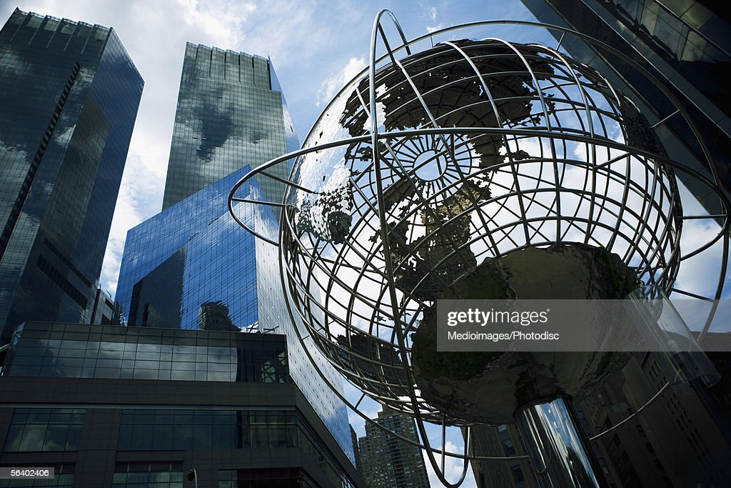 World globe, Manhattan, NY, USA