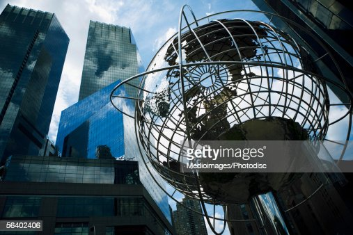 World globe, Manhattan, NY, USA