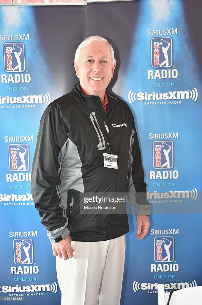 World Golf Hall of Fame Member <a gi-track='captionPersonalityLinkClicked' href=/galleries/search?phrase=Hale+Irwin&family=editorial&specificpeople=239520 ng-click='$event.stopPropagation()'>Hale Irwin</a> broadcasts live on SiriusXM from The Masters on April 6, 2016 in Augusta, Georgia.