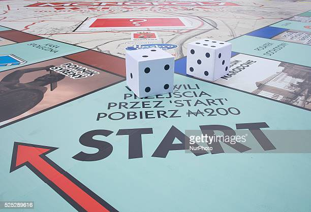 World Guinness Record in playing on the largest game board of Monopoly The game board has 400 square meters 06 September Warsaw Poland