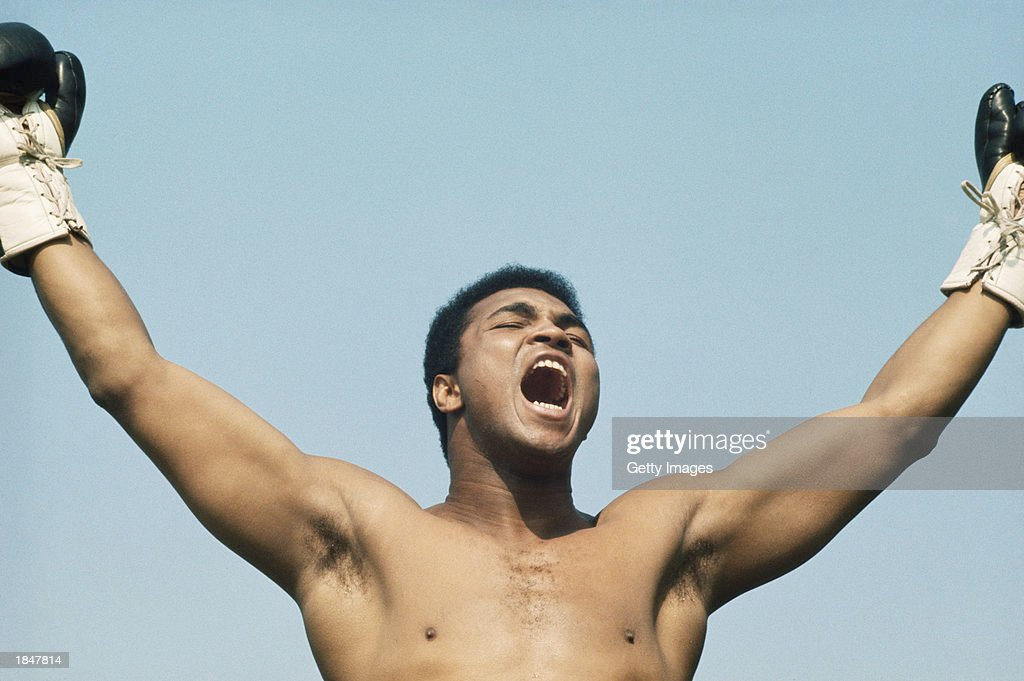Muhammad Ali during training for his fight with Al 'Blue' Lewis held in Dublin Republic of Ireland in 1972