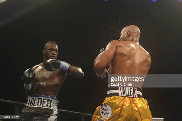 World Heavyweight Champion Deontay Wilder fights Gerald Washington at Legacy Arena at the BJCC on February 25 2017 in Birmingham Alabama