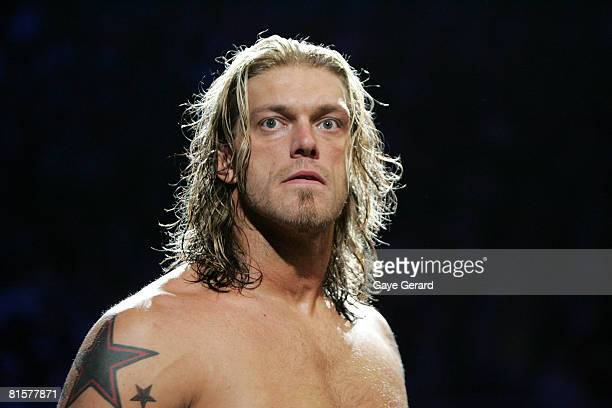 World Heavyweight Champion Edge during WWE Smackdown at Acer Arena on June 15 2008 in Sydney Australia