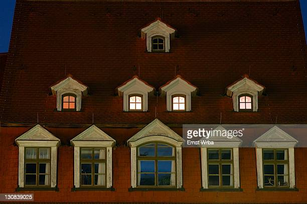 UNESCO World Heritage Site classic Weimar, Markt dormer of a roof Weimar Thuringia Germany
