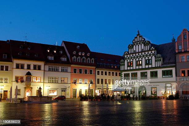 UNESCO World Heritage Site classic Weimar, Markt Weimar Thuringia Germany