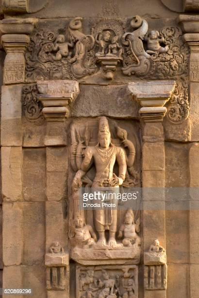 UNESCO World Heritage Site, standing sculpture in Pattadakal temple eight century, Karnataka, India