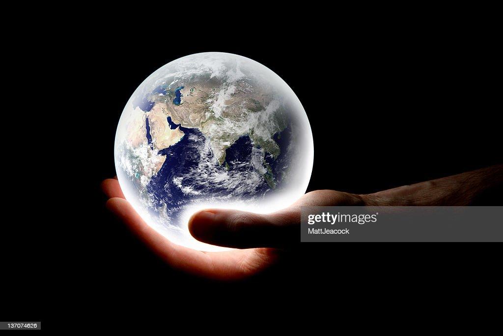 World in hand : Stock Photo