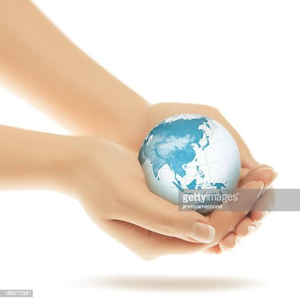 World in Hands - Asian Eastern Hemisphere