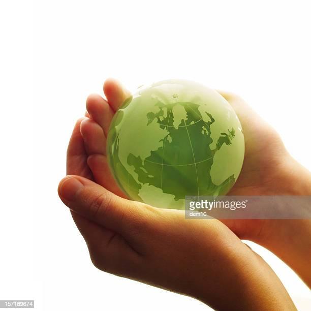 World in hands (High Key)