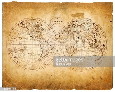 world in hemispheres 1809