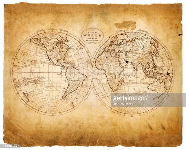 Welt in hemispheres 1809