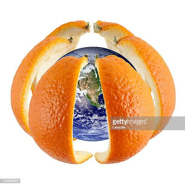 Welt in orange