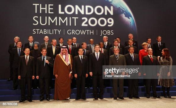 World Leaders including US President Barack Obama British Prime Minister Gordon Brown Australian Prime Minister Kevin Rudd French President Nicolas...