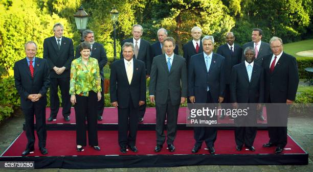 World leaders pose for a group photograph in Berkshire as they gathered together for the Progressive Government Summit meeting * Argentine President...