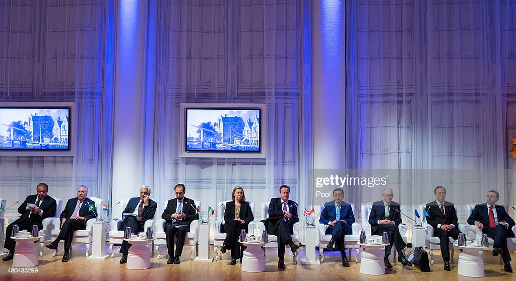 World leaders sit for a plenary session of the 2014 Nuclear Security Summit on March 25, 2014 in The Hague, Netherlands. Leaders from around the world have come to discuss matters related to international nuclear security, though the summit has been overshadowed by recent events in Ukraine.