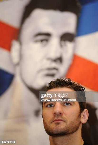 WBO World LightHeavyweight Champion Nathan Cleverly during the press conference at the Landmark Hotel London