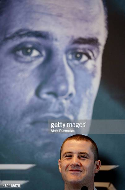 World Lightweight champion Ricky Burns during a press conference to announce the Ricky Burns WBO World Lightweight title defence against Terence...