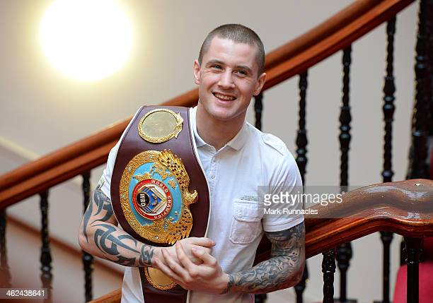 World Lightweight champion Ricky Burns poses for a picture during a press conference to announce the Ricky Burns WBO World Lightweight title defence...