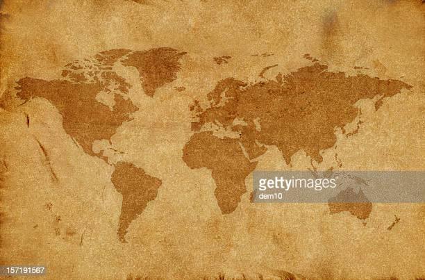 Welt Karte und Kompass