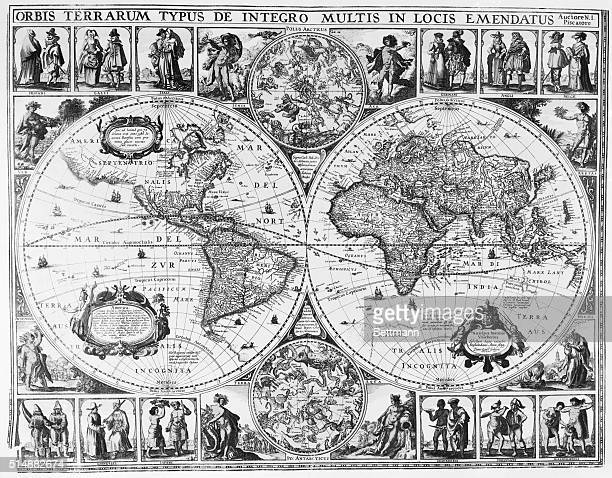 World map by Nicholas Joanes Visscher Amsterdam 1639
