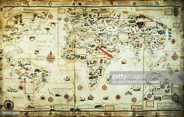 World Map by Pierre Descalier 16th century