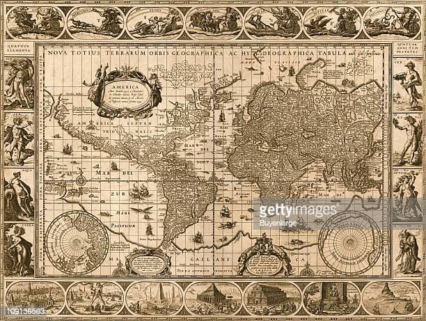 World map by Willem Janszoon Blaue 1606