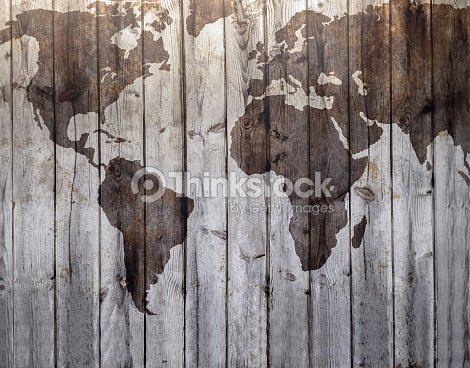 World map drawn on canvas wood effect stock photo thinkstock world map drawn on canvas wood effect stock photo gumiabroncs Choice Image