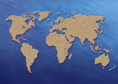 World Map Illustration Of A Map Of The World Showing All The Continents And Oceans