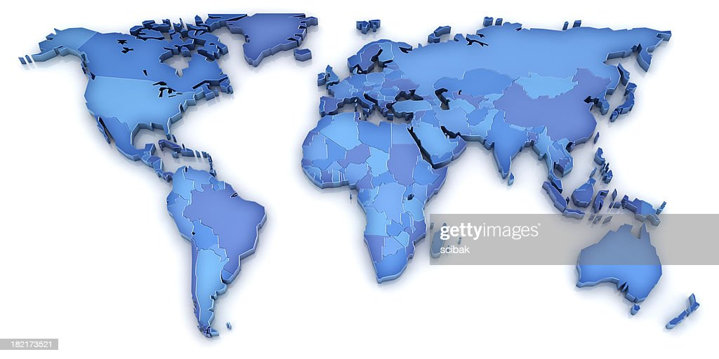 3d World Map Stock Photo Getty Images