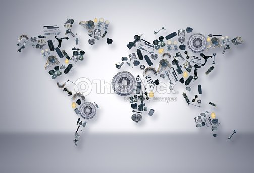 World map of the spare parts for shop auto aftermarket stock photo world map of the spare parts for shop auto aftermarket stock photo gumiabroncs Gallery