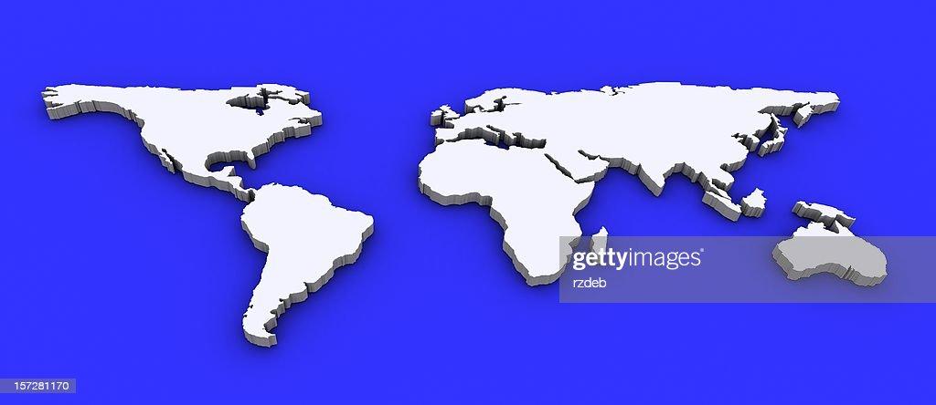 3 D Welt Karte : Stock-Foto