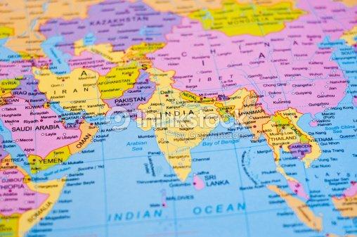 Mapa mundial india foto de stock thinkstock mapa mundial india foto de stock gumiabroncs Images