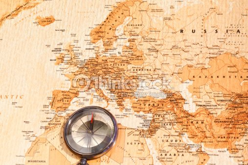 World map with compass showing europe and the middle east stock world map with compass showing europe and the middle east stock photo gumiabroncs Choice Image