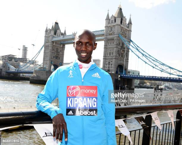 World Marathon Record Holder Kenya's Wilson Kipsang during the press conference at Tower Bridge London PRESS ASSOCIATION Photo Picture date Thursday...