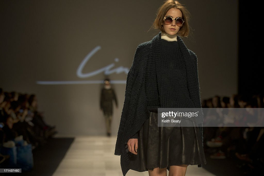World MasterCard Fashion Week Fall 2013 Collection in Toronto - Line Knitwear - Runway