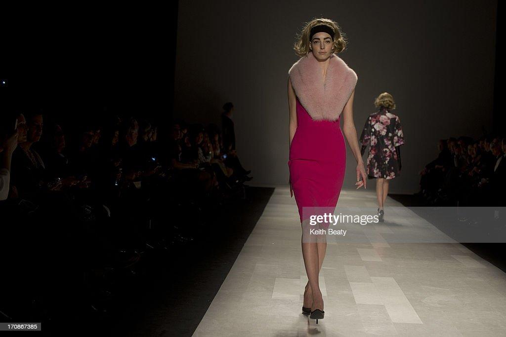 World Mastercard Fashion Week Toronto. Pink Tartan collection.