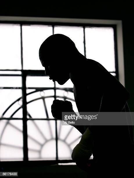 World Middleweight Champion Jermain Taylor trains at the Police Athletic League Gym on November 15 2005 in Memphis Tennessee