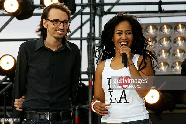 'World Music Day 2007' In Paris France On June 21 2007 Christophe Willem and Amel Bent