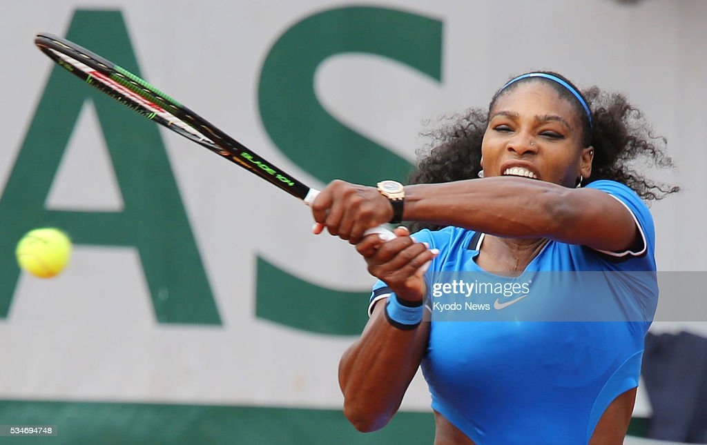 World No. 1 <a gi-track='captionPersonalityLinkClicked' href=/galleries/search?phrase=Serena+Williams&family=editorial&specificpeople=171101 ng-click='$event.stopPropagation()'>Serena Williams</a> defeats Teliana Pereia of Brazil 6-2, 6-1 in the second round of the French Open in Paris on May 26, 2016.
