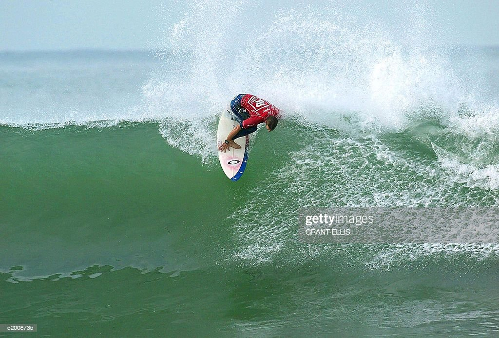 World number 16 Damien Hobgood competes in round three of the Boost Mobile Pro at Lower Trestles San Clemente CA 08 September 2002 The event...