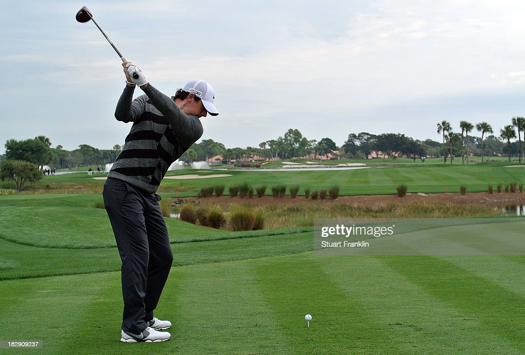 World number one and defending champion, Rory McIlroy of Northern Ireland plays his tee shot on the 18th hole, his nineth during the second round of the Honda Classic on March 1, 2013 in Palm Beach Gardens, Florida.