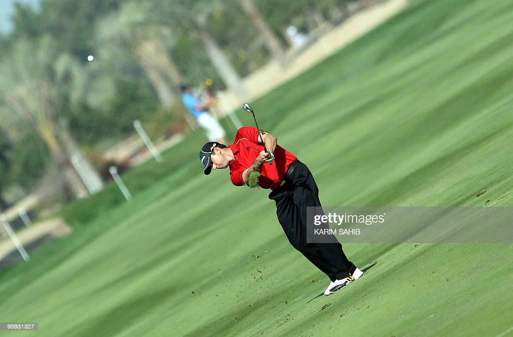 World Number two golfer Sergio Garcia competes during the Abu Dhabi Golf Championship on January 22 2010 in Abu Dhabi AFP PHOTO/KARIM SAHIB