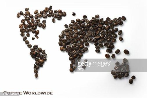 World of coffee : Stock Photo