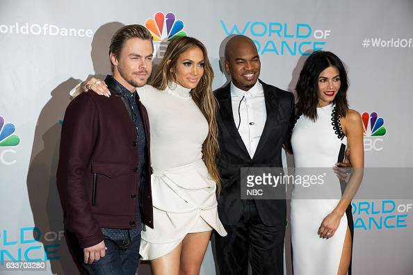 DANCE 'World of Dance Red Carpet' Pictured Derek Hough Jennifer Lopez NeYo Jenna Dewan Tatum
