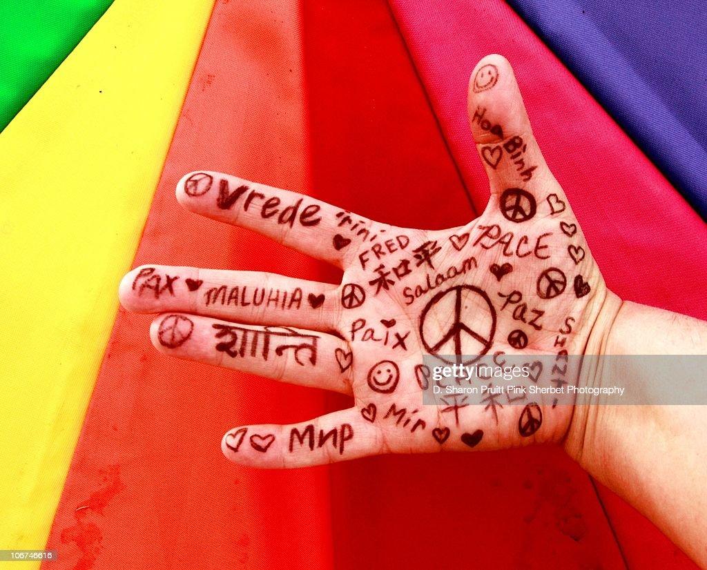 A World of Peace : Foto de stock