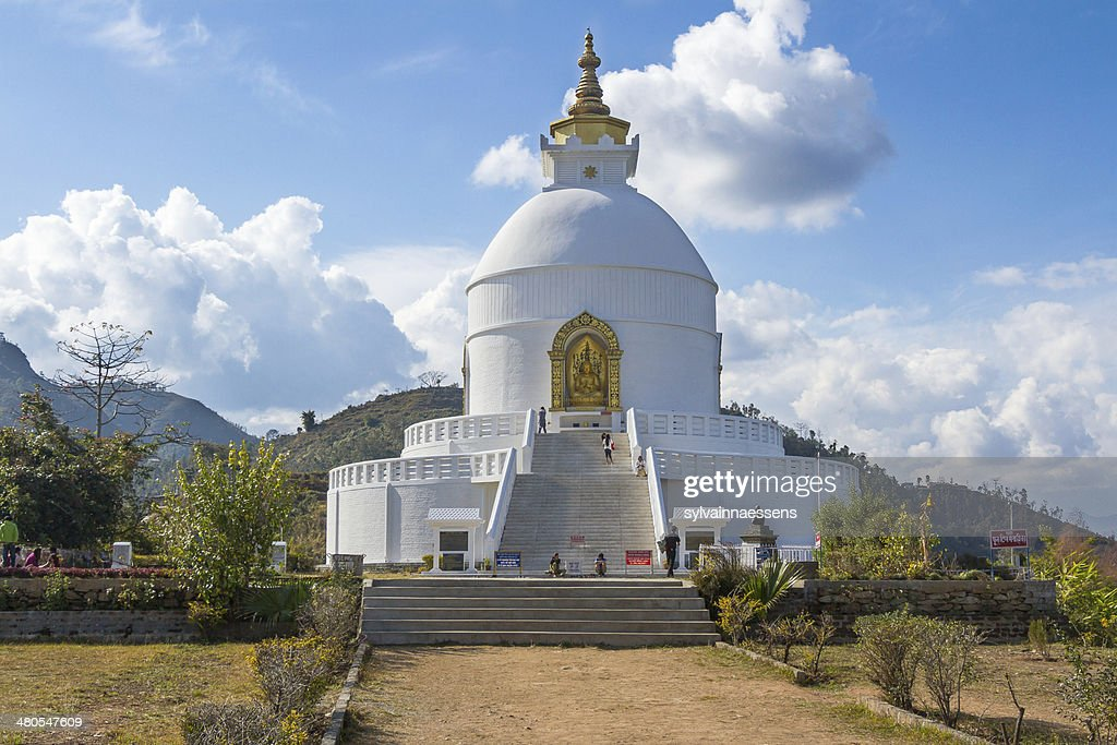 World peace pagoda-Pokhara, Nepal : Stock-Foto