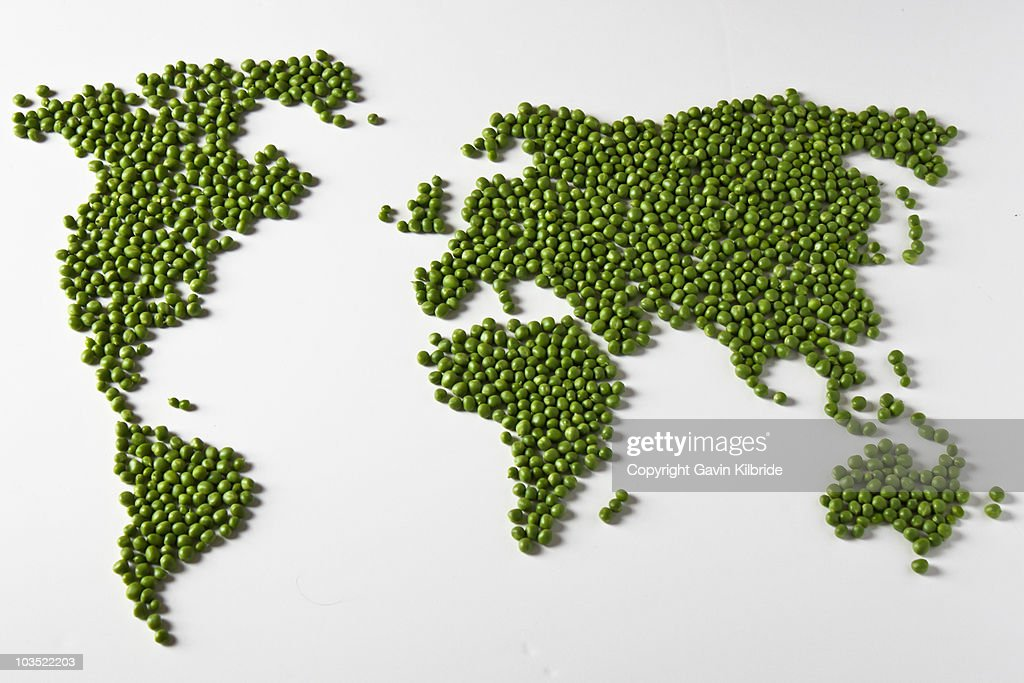 World Peas - aka Give Peas a Chance : Stock Photo