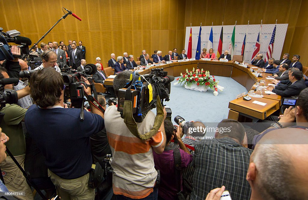 World powers meet during the last working session of E 3+3 negotiations on July 14, 2015 in Vienna, Austria. Six world powers; US, UK, France, China, Russia and Germany have reached a deal with Iran on limiting Iranian nuclear activity.